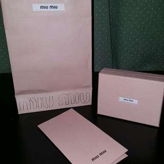 Miu Miu Box And Paper Bag - Key Holder