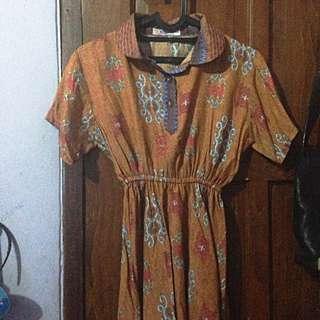 Batik Blouse Berkerah