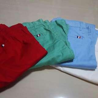 Giordano slim shorts (4 new ones)