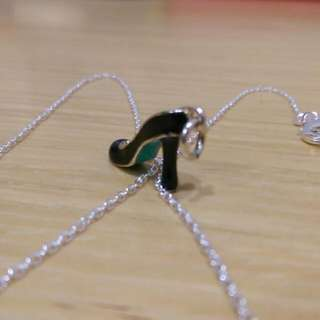 (全新) Tiffany & Co./蒂芬妮 女式純銀高跟鞋項鍊