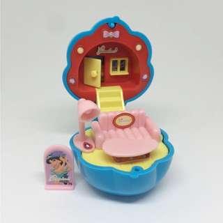 🚫迪士尼 稀有 茉莉 阿拉丁 公主的部屋 迷你房間 絕版 轉蛋 扭蛋 公仔 玩偶 Polly Pocket
