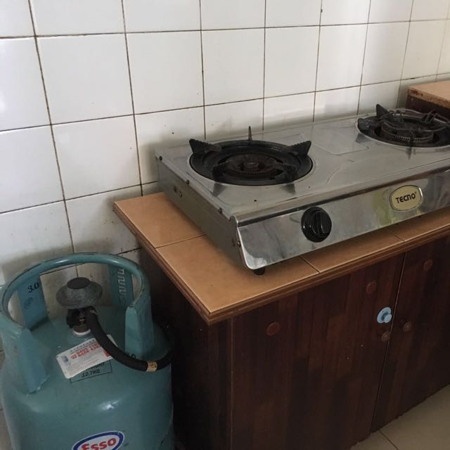 2 Burner Gas Stove With Cabinet And Gas Tank, Home Appliances On Carousell