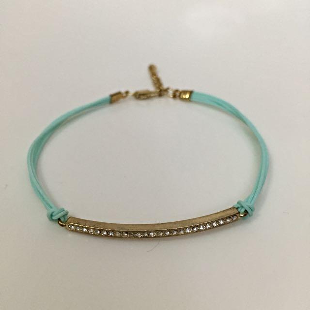 韓國藍色手繩手鍊