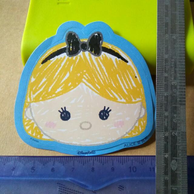 迪士尼貼紙-愛麗絲