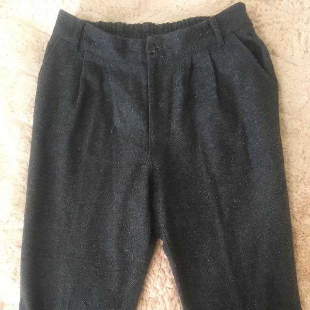 針織混彩色毛球老爺褲