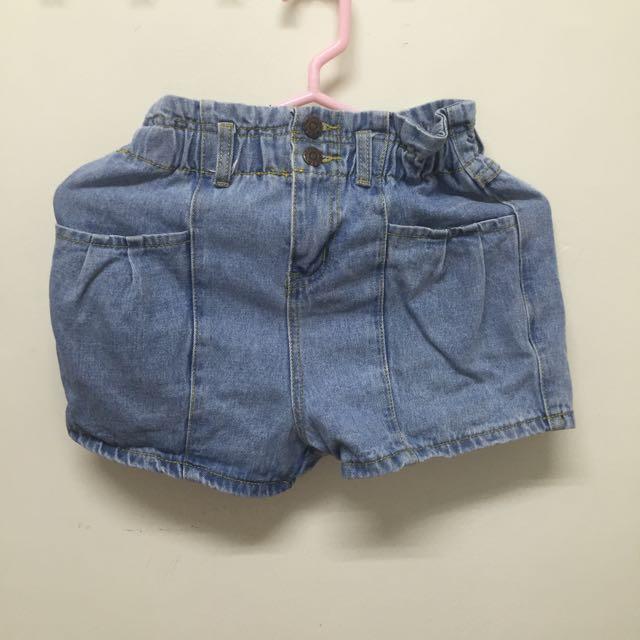 牛仔修身短褲(全新)
