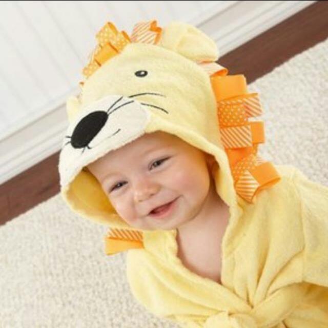 小獅子寶寶浴袍/包巾