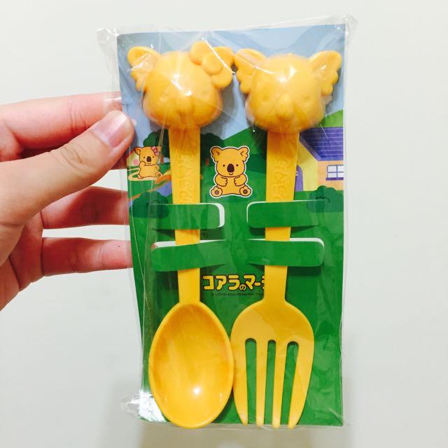 樂天小熊餅乾 無尾熊 餐具組 湯匙&叉子🍴
