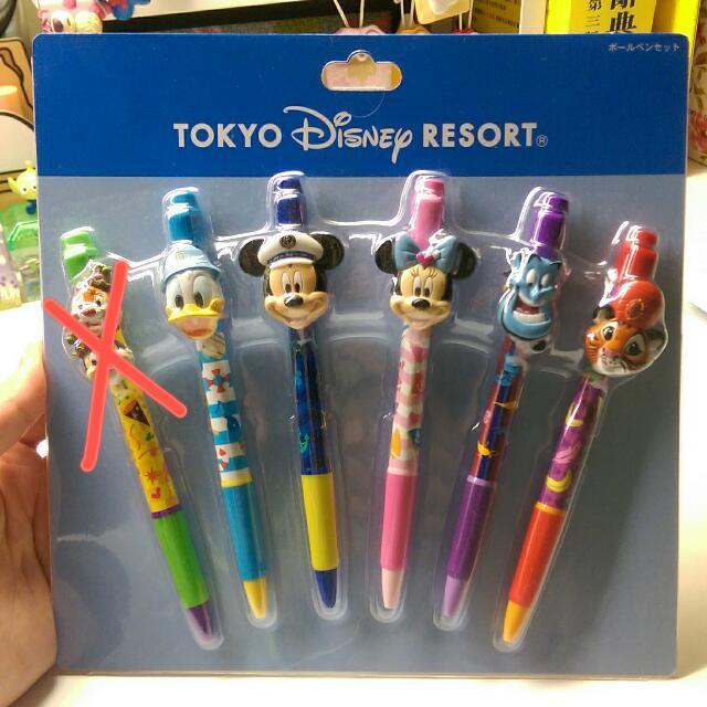 迪士尼 原子筆套組 唐老鴨 米奇 米妮 神燈 奇奇蒂蒂