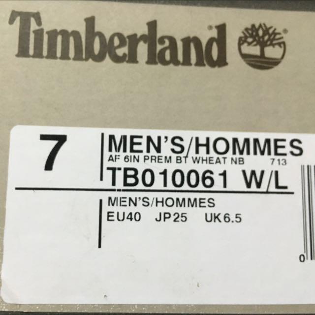 近全新 Timberland經典黃靴 7號