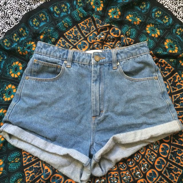 Abrand High Waisted Denim Shorts