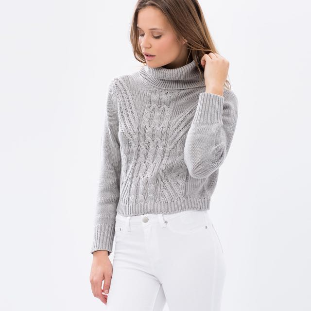 All About Eve Sweet Tails Cable Knit Grey