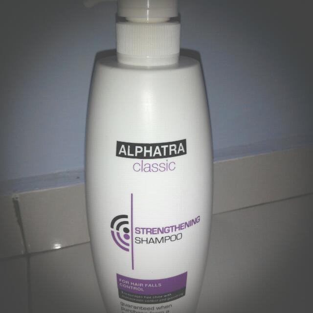 Alphatra Classic Saloons Strengthening Shampoo~Cleanse Excessive Scalp  Sebum (1000ml)