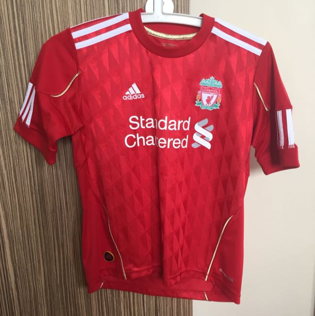 c42f2d924bd Authentic Adidas Liverpool Football Club Red Boy s Jersey