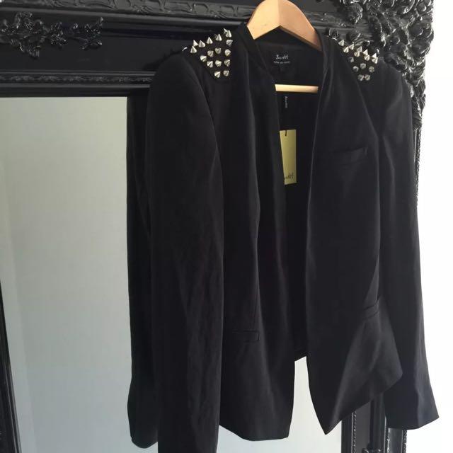 Bardot Studded Jacket Size 10 Brand New