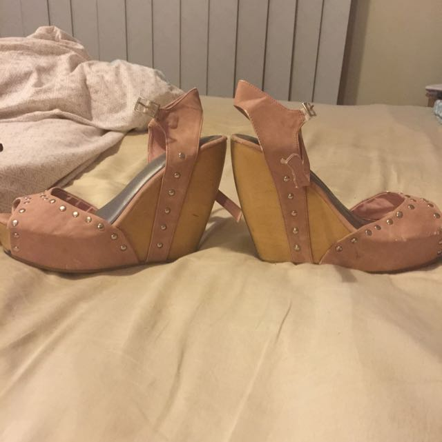 Betts Pink Suede Wedges