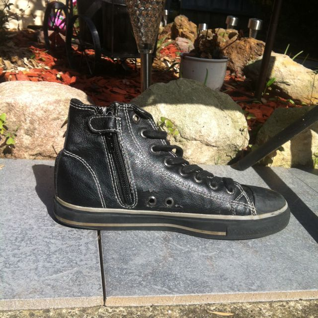 Black Grunge Okaido High Top Sneakers