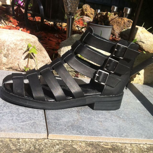 Black Rubi Gladiator Sandals