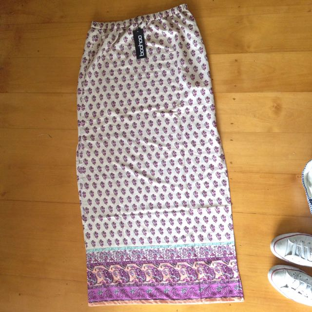 Boohoo High Waisted Maxi Skirt