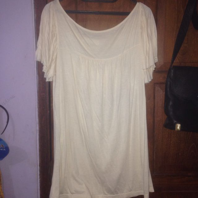 Broken White Long Blouse