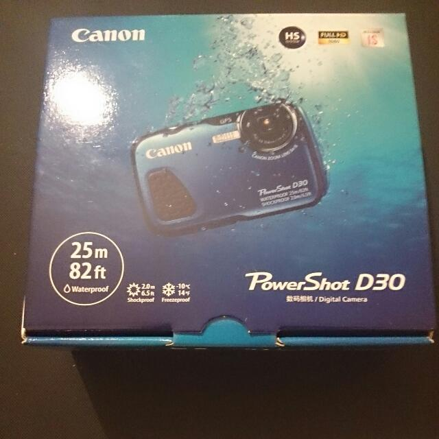 Canon PowerShot D30 - Digital Camera