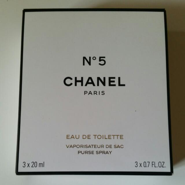 Chanel No5 3x20ml Perfumes