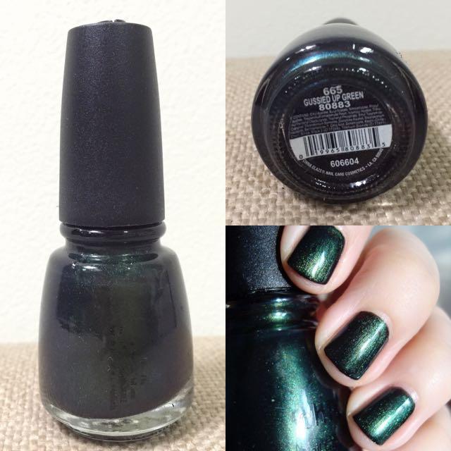 China Glaze nail polish 'Gussied up Green'