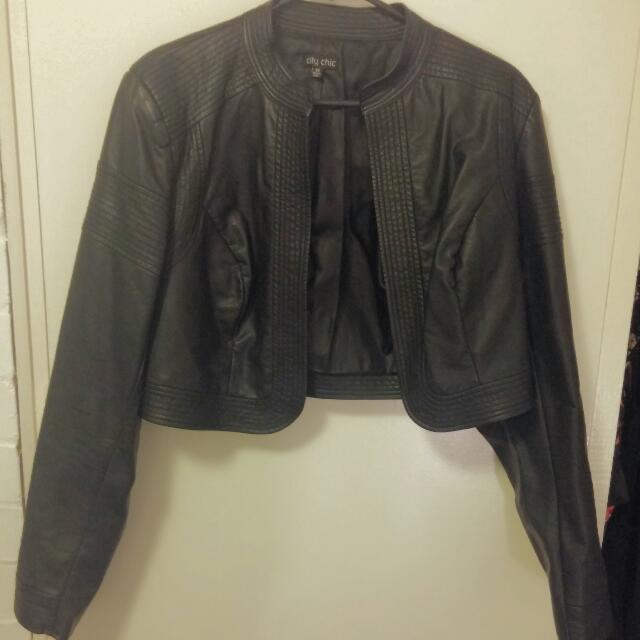 City Chic Leather Style Jacket