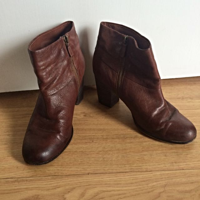 Cole Haan Brown Leather Booties
