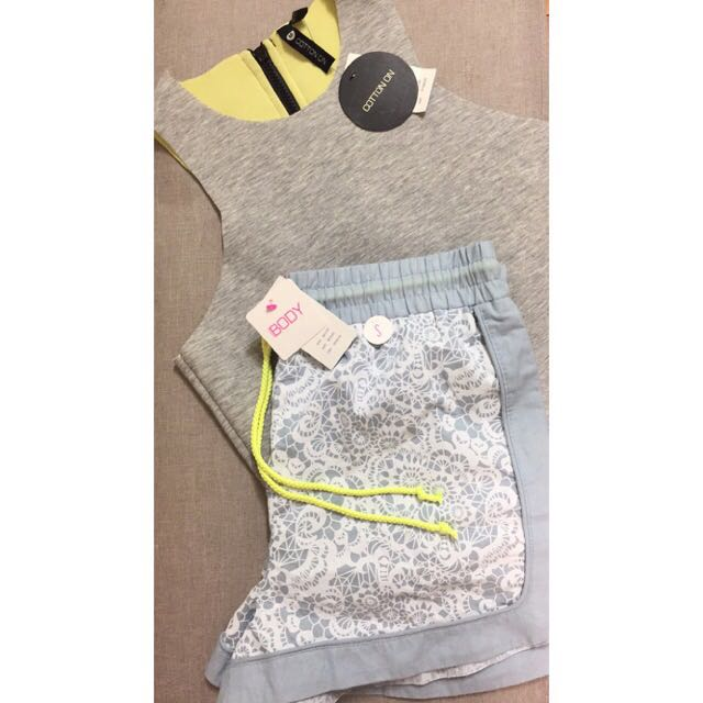 Cotton On- Crop Top And Shorts