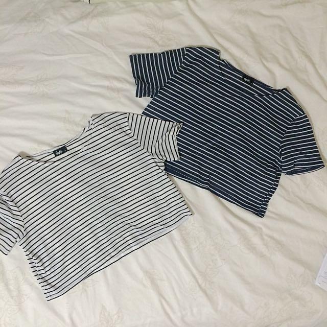 Dotti Stripes Crop Tops