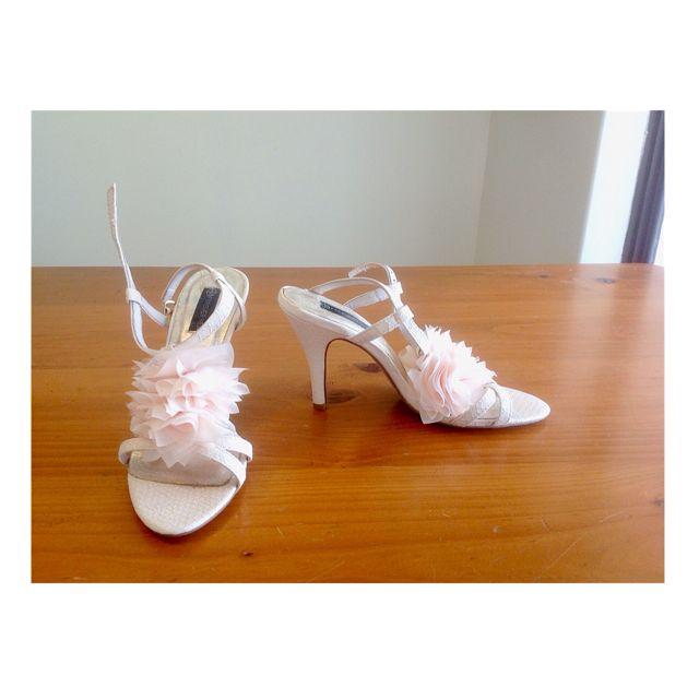 Floral Peach High Heels
