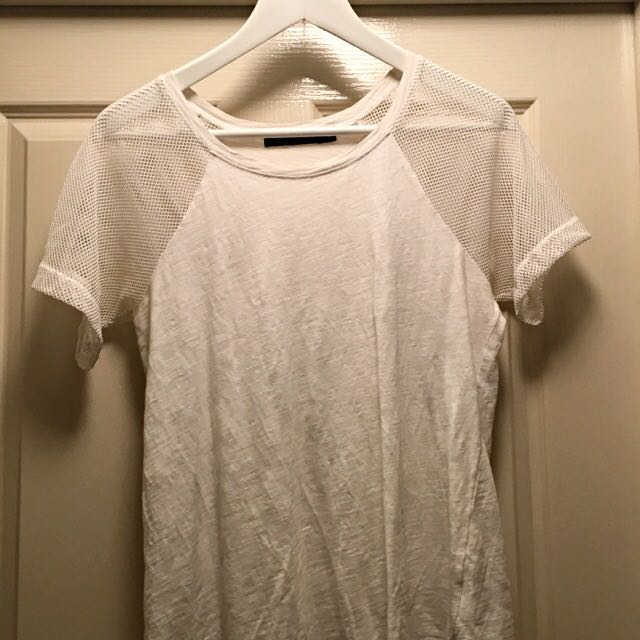 Glassons Mesh Sleeve Top