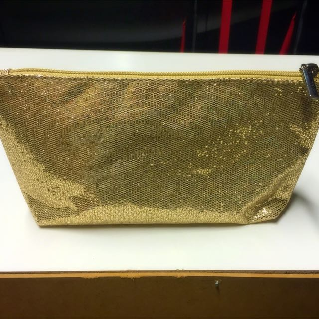 Glitz Glam Fab Gold Beauty Tote