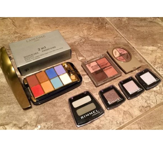 LANCOME Palette and other drugstore eyeshadows