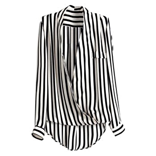 Never Been Worn Romwe Stripe Top Large