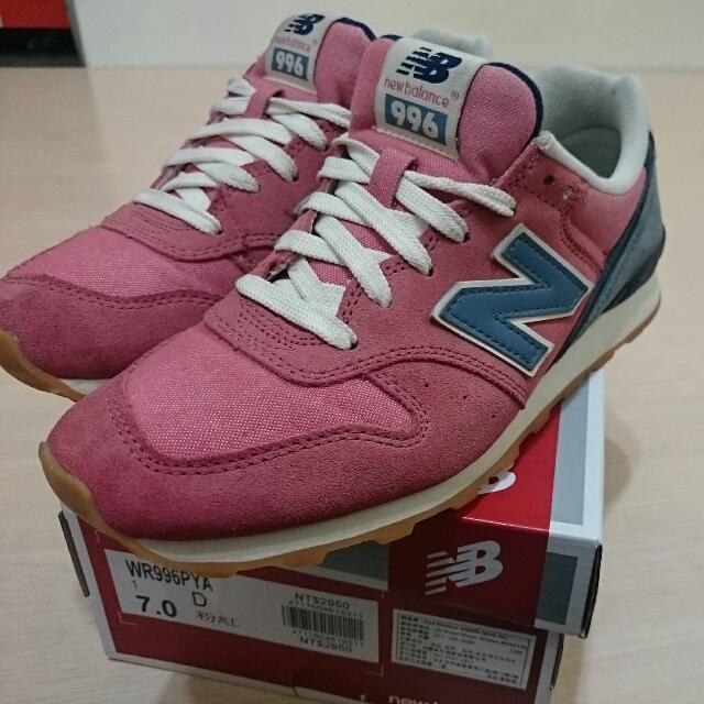 Newbalance 996 紅藍配復古鞋 24