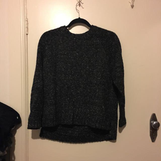 New Charcoal/black Knit