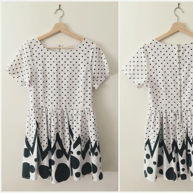 Mika & Gala polka dot dress size 12