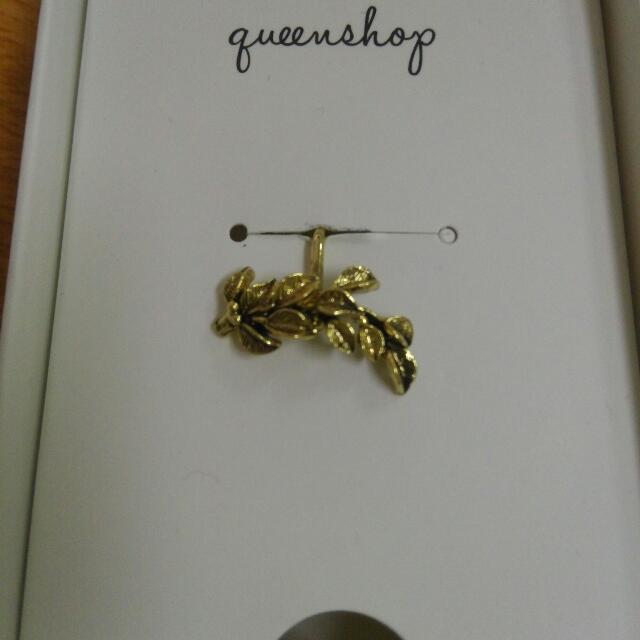 QueenShop葉子耳夾