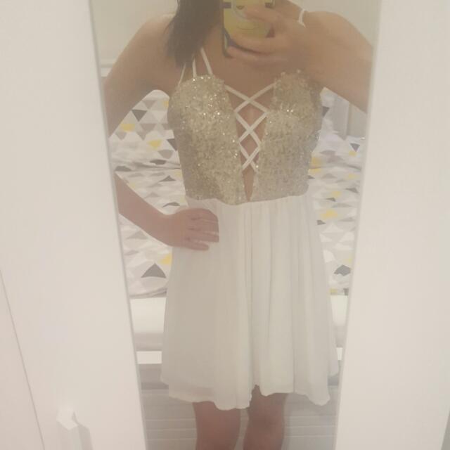 Sabo Skirt Gold Sequence Dress