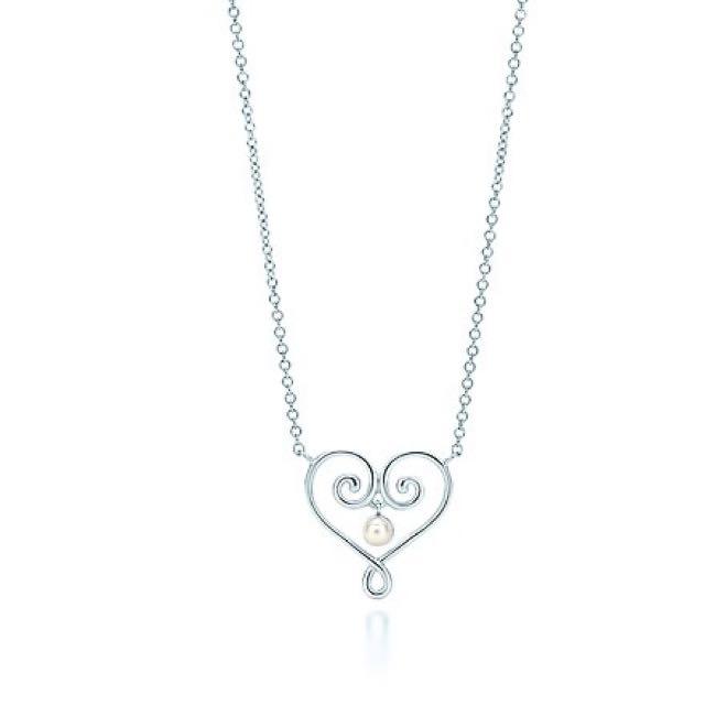 PRICE REDUCED‼️ Tiffany Necklace - Paloma's Venezia Heart Pendant w/ Pearl
