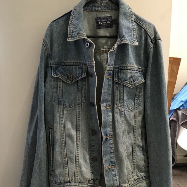 Top Man Denim Jacket Size S