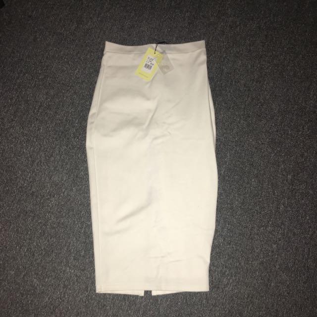 White Bardot Midi Skirt