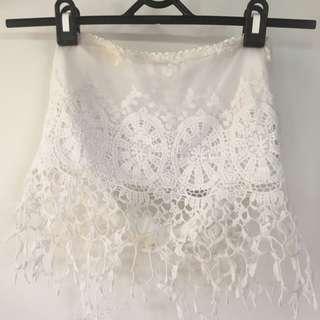 Crochet lace crop