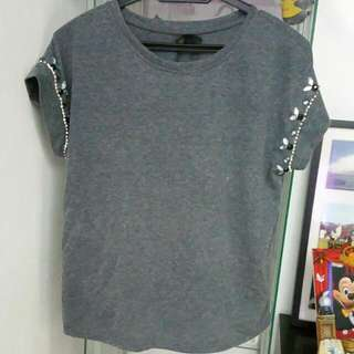 SEED Grey Top Size L
