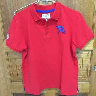 二手 Arnold Palmer雨傘牌polo衫 紅色poli衫