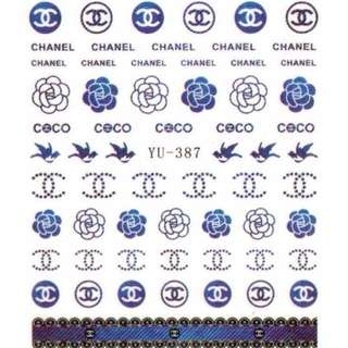 CHANEL NAIL DECAL TRANSFER TATTOO STICKER 01