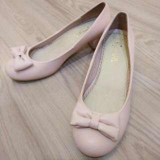 全新便宜 grace gift 杏色娃娃鞋
