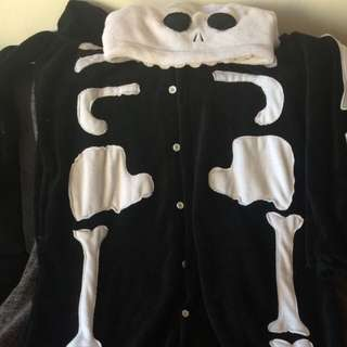 Skeleton Onesie Size XL Fits A Large Also Though. Perfect Condition